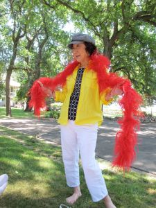 feather boa outdoors