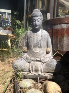 snails on Buddha